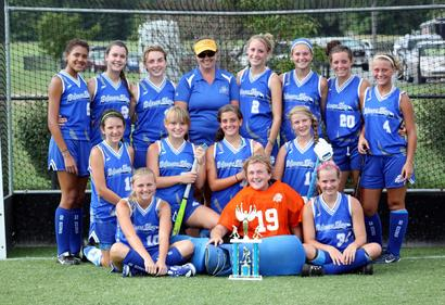 Delaware Shore�s U19 field hockey team captured the Kent County Clash Championship on Saturday by going undefeated for the day. The team opened play with a 2-0 win over Dover with goals by Hannah Collins and Sam Broadhurst with Devon Roberts in the goal cage. In their second game the team defeated Appo/STMP by a final of 7-0. Scoring goals were: Rachel Hagan (2), Marlee McGinness, Broadhurst (2), Maddy Brown, and Ruthie Weiler. Next was a 2-0 win over Lake Forest with goals coming from Broadhurst and Weiler. Their fourth game was a 0-0 result with Polytech. To finish pool play the team defeated CR on a late goal by Hagan. Delaware Shore then defeated CR again in the championship game with a early goal by Hagan with an assist from Collins.  Caption for the attached photo: Back: Lexi Gooch, Ryan Taylor, Becky Sponaugle, Amanda Jacona (coach), Ruthie Weiler, Rachel Hagan, Marlee McGinness, and Sydney Ostroski Middle: Maddy Brown, Amanda Atkinson, Hannah Collins, and Sam Broadhurst Front: Jordie Loomis, Devon Roberts (goalie), Anna Steiner Missing: Rebekah Yanacek (goalie)